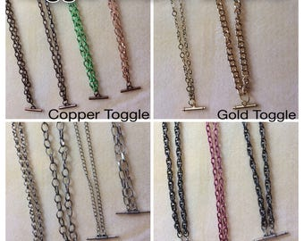 Toggle Pendant Charm Chains - Readymade