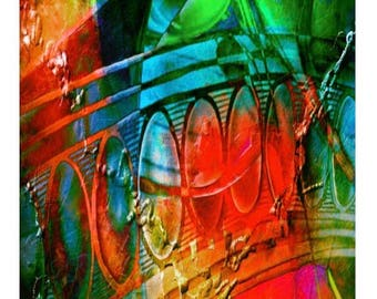 Abstract, digital, colorful, fantasy art