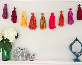 Colorful Tassel Wall Hanging