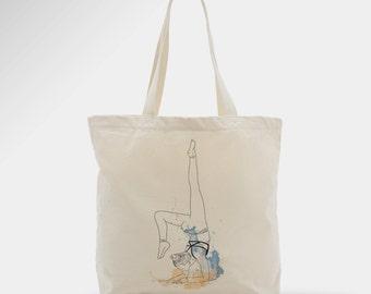 Yoga coton tote bag, woman, bag, zen, gift