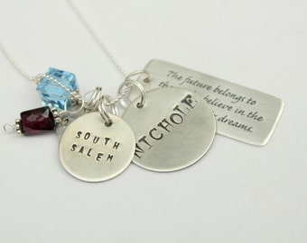 Memory Necklace Name Necklace, Name Personalized Inspirational Graduation Pendants, Memory Pendant,Christmas Gift, GRADUATION Gift 2013