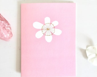 Flower Mini Greetings Card | girls card | flower card | love card | wedding card | mini card | blank inside