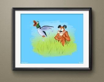 Nintendo Duck Hunt Video Game Art Print
