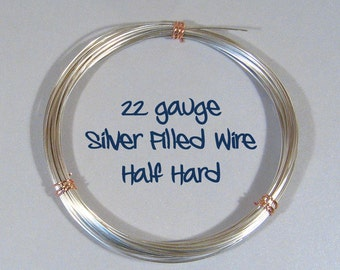 22ga HH Half Hard Silver Filled Wire - Choose Your Length