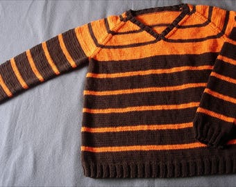 Mixed orange and Brown cotton sweater 14/16 years