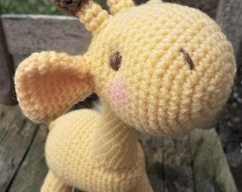 Baby Giraffe Stuffed Amigurumi Doll