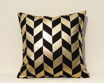 Gold pillow cover, Gold Cushion Cover, Geometric Pillow Case,  Christmas pillow Case , Gold01