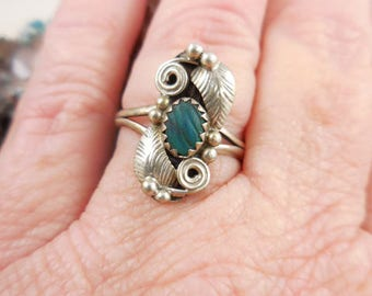 Native American Sterling Paua Shell Ring