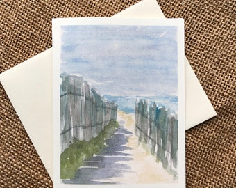 Watercolor Note Cards, Beach Theme Note Cards, Landscape Notecards, Thank You Cards, Thinking Of You Cards, Original cards, Birthday Cards