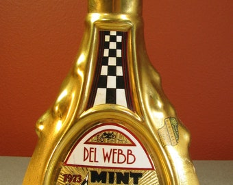1973 Del Webb Mint 400, Sahara Desert Rallye Decanter With Issues