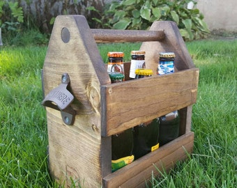 Handmade Wooden 6-Pack Holder