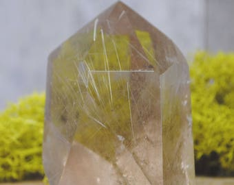 Rutilated Smoky Quartz Crystal Tower Point -  1248.20