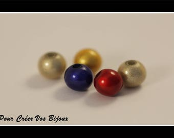Magical set of 50 beads / round 6mm miracle