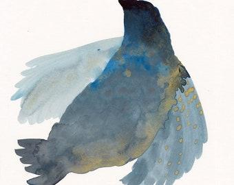 Soaring Bird Original / gouache painting