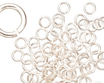 18 gauge Jump Rings Jump Rings Silver plated brass 6mm sold per 200pcs