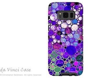 Case for Samsung Galaxy S8 PLUS - purple abstract dual layer Galaxy S 8 PLUS Case - Grape Bubbles -  Dual Layer Tough Case by Da Vinci Case