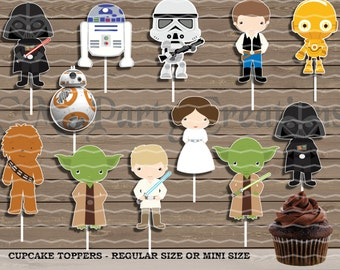 Star Wars Cupcake Toppers, Die Cuts, Birthday Party Cupcake Toppers