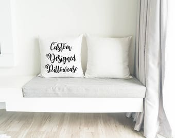 Custom pillow / Custom pillow cover / Custom throw pillow / Personalized pillow / Housewarming gift /  Custom gift / Birthday gift