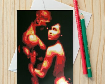 Painting couple etsy au erotic couple fine art note card 4x6 fine art card painting m4hsunfo