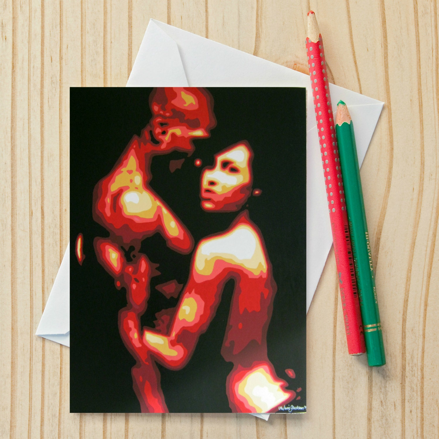 Erotic couple fine art note card 4x6 fine art zoom m4hsunfo