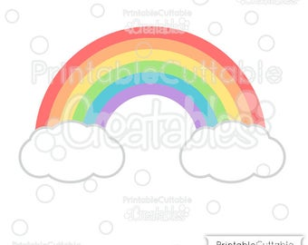 Rainbow SVG Cut File & Clipart E244 - Includes Limited Commercial Use!