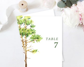 Table Number Cards - Forest Dreams (Style 13777)