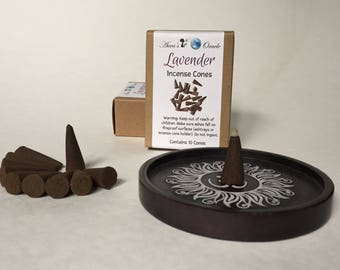 Lavender Incense Cones, Box of 10