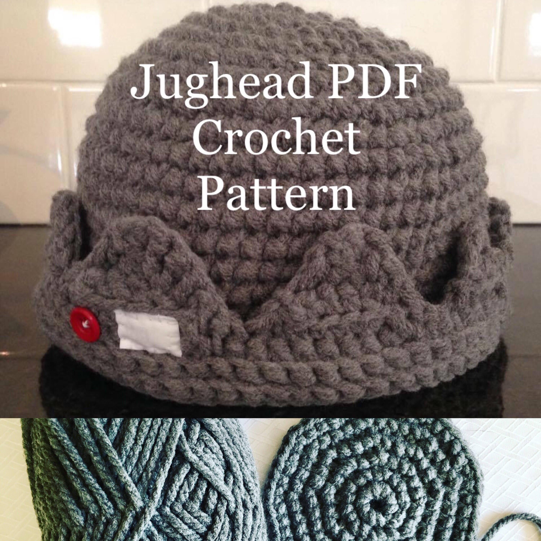 Quick and easy Jughead Beanie Crochet PDF Pattern beginner