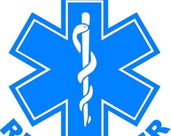 First Responder Star of Life Sticker/Decal