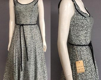 Lace 1950s dress in duckegg blue
