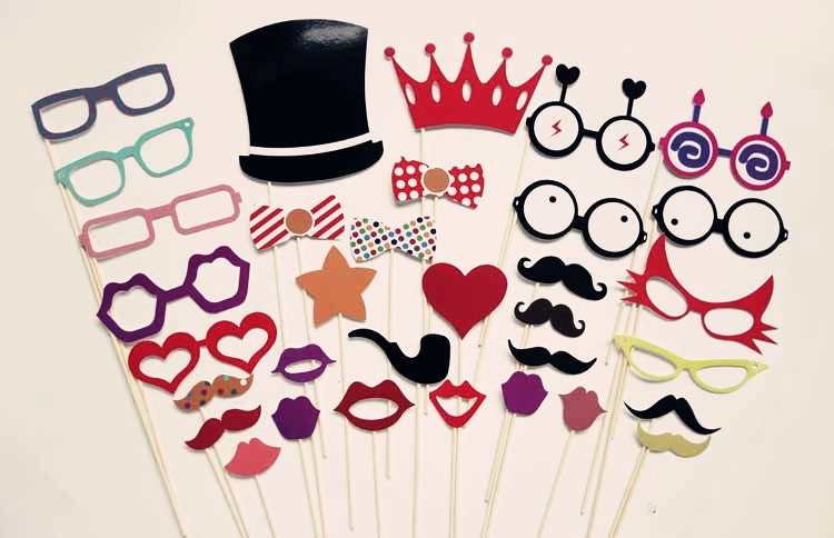 Birthday Photo Booth Props Kids Party On