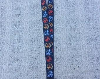 Mockingjay Pin / Pins / Katniss / Peeta / Ribbon Lanyard / ID Tag