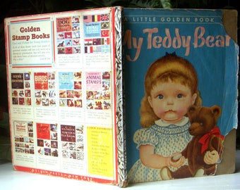 My Teddy Bear, Patsy Scarry, Illustrated by Eloise Wilkin, Childrens Hardback, Vintage Edition Little Golden Book, 1953