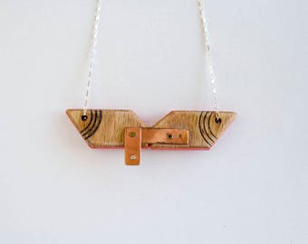 Construction-03 - Mixed Media Necklace