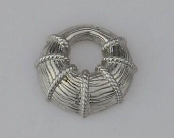 Sterling Silver 925 Estate Judith Ripka Enhancher/Pendant