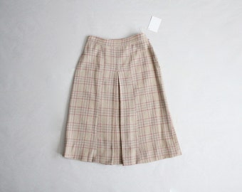 50s wool skirt | 50s plaid skirt | wool plaid skirt