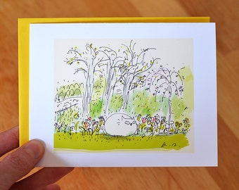 Spring Garden Cat Card