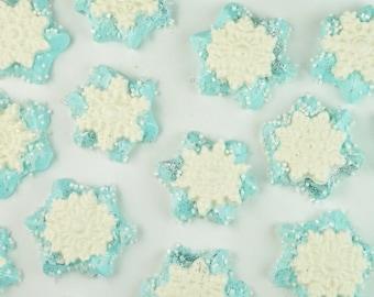 Twelve Snowflake Marshmallow Hot Cocoa Mug Toppers