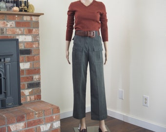 Filson whipcord wool pants / vintage 60s high waist outdoor utility pants women size small
