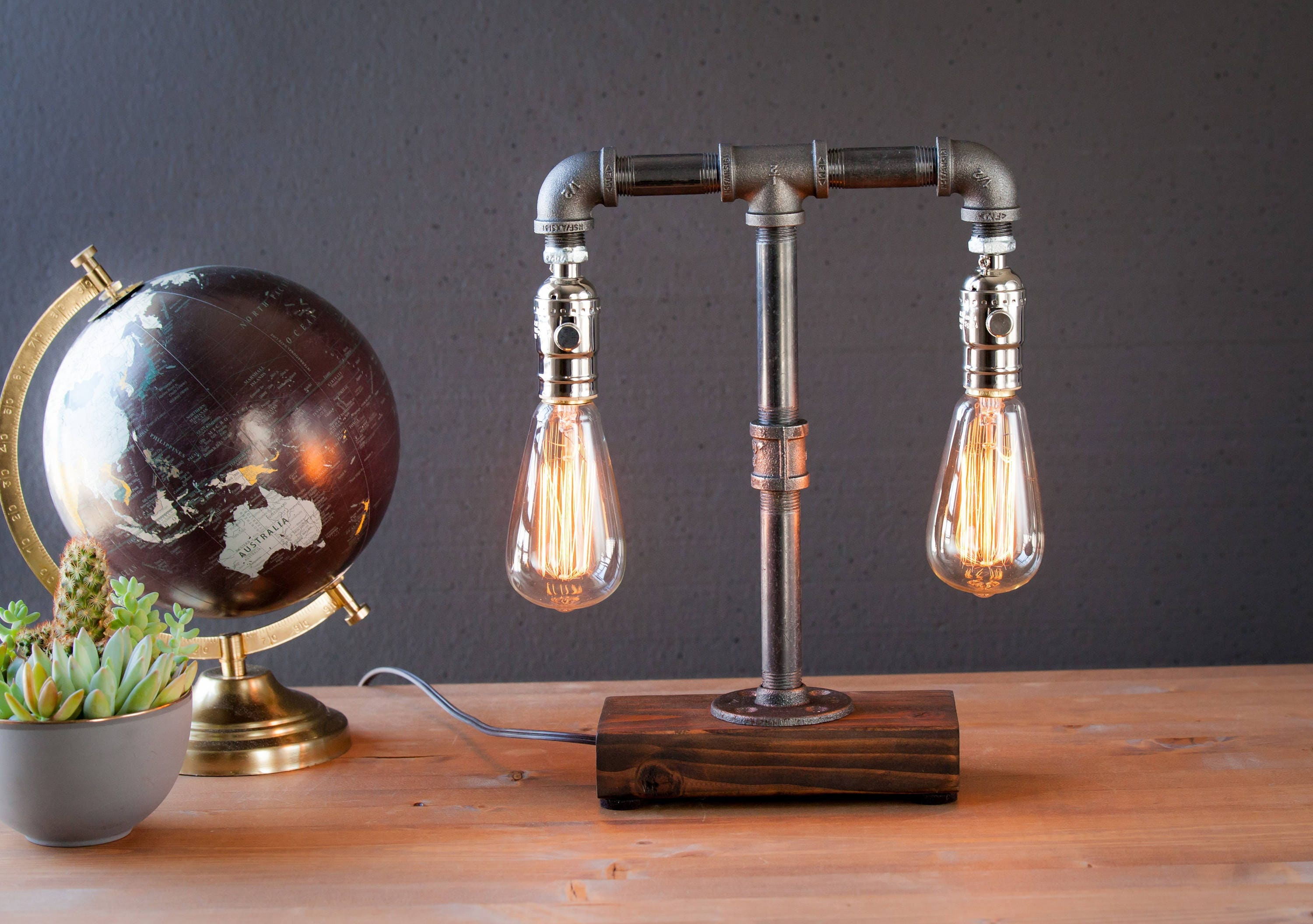 pipe iron lamp imgur pinterest room black great home pin