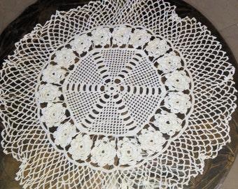 16'' handmade crochet round vintage doilies