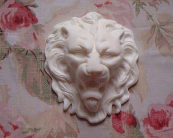 New! Majestic French Lion Head Center Architectural Pediment Furniture Applique