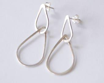 Double Raindrop Earrings // Sterling Silver