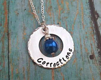 Corrections Officer Necklace - Corrections - Correctional Officer - Officer -Law Enforcement -Department of Corrections -CO - Female Officer