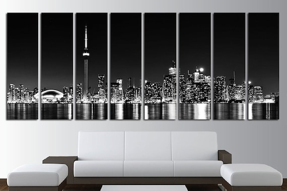 8 panels canvas wall art set toronto skyline toronto canvas