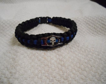 The Punisher Series - Charm # 6 - Paracord Bracelet - Hand Made