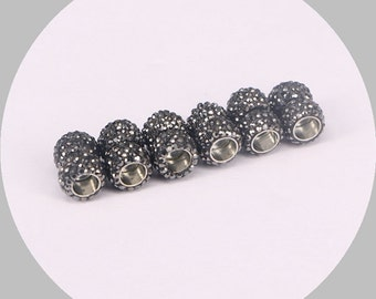 10/30pcs Leather Cords Magnetic Clasps, 6.0mm Hole, Leathe Clasps, Pave Crystal Zircon Jewelry Findings