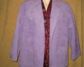Ultrasuede Jacket Lavender Roth Le Cover 10-12 70s Vintage