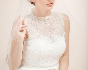 Bridal  veil,  Juliet cap veil, lace cap veil--JANICE style 350