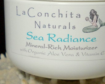 Sea Radiance Mineral-Rich Face Cream with Aloe and Marine Extract - Unscented, Non-Greasy Formula - 0.25 oz Sample Jar